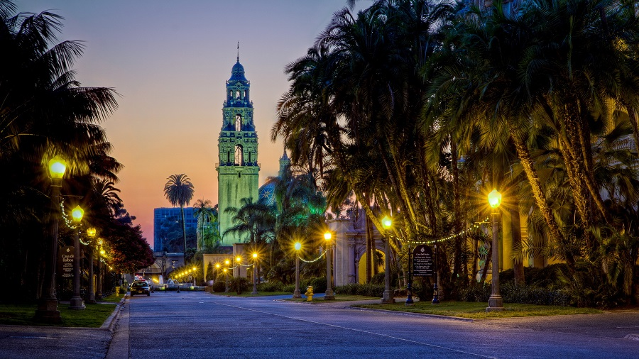 Balboa Park In San Diego In The Evening HD Desktop Background