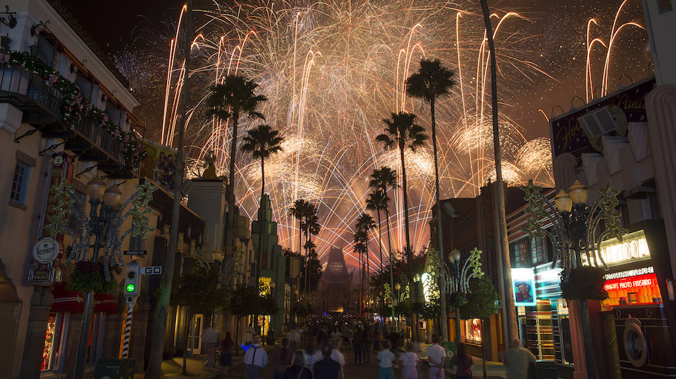 "Guests visiting Disney's Hollywood Studios can experience ""Symphony in the Stars: A Galactic Spectacular,"" a dazzling Star Wars-themed fireworks show set to memorable Star Wars music from throughout the saga. The fireworks spectacular is featured nightly. Disney's Hollywood Studios is one of four theme parks at Walt Disney World Resort. (David Roark, photographer)"